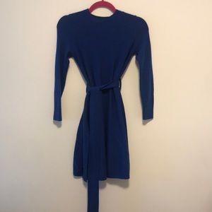 Cos royal blue wool dress sz xs